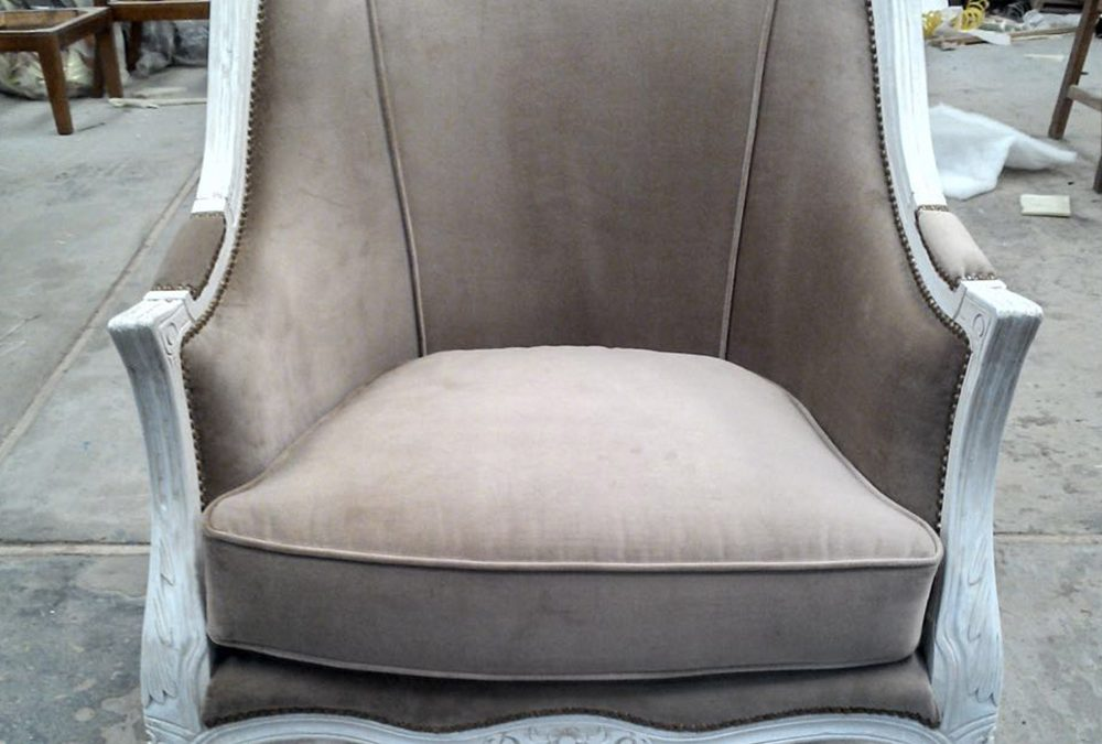 Sillon De Estilo Decape Blanco